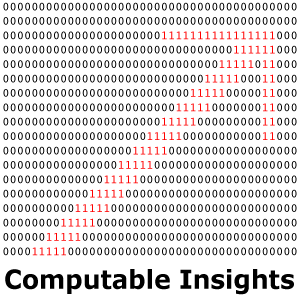 Computable Insights LLC -- red ones arrow logo